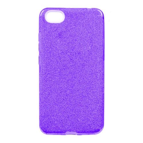 Силиконовый чехол Glitter Apple iPhone 5 / 5s / SE (Фиолетовый)