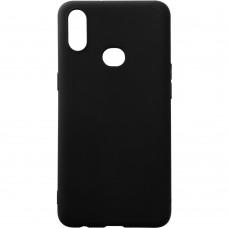 Силиконовый чехол iNavi Color Samsung Galaxy A10s (2019) (Чёрный)