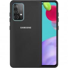 Силикон Original 360 Case Logo Samsung Galaxy A52 (2021) (Чёрный)