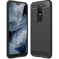 Силикон Polished Carbon Nokia 6.1 Plus (2018) (Черный)