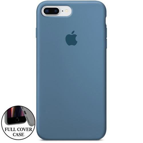 Силикон Original Round Case Apple iPhone 7 Plus / 8 Plus Sapphire