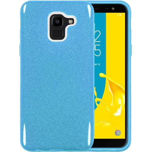 Силикон Glitter Samsung Galaxy J6 (2018) J600 (синий)