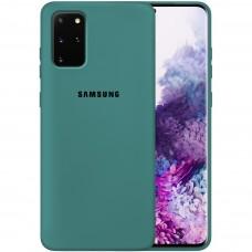 Силикон Original Case Samsung Galaxy S20 Plus (Тёмно-зелёный)
