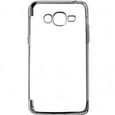 Силиконовый чехол UMKU Line Samsung J200 (Серый)