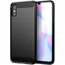 Силикон Polished Carbon Xiaomi Redmi 9A (Чёрный)