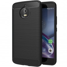 Силикон Polished Carbon Motorola E4 (Чёрный)