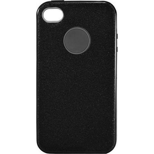 Силиконовый чехол SHINE Apple iPhone 4 / 4s (черный)