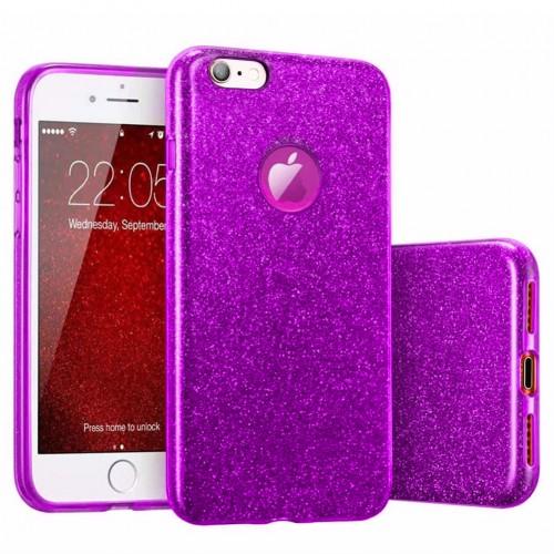 Силикон Glitter Apple iPhone 6 Plus / 6s Plus (Фиолетовый)