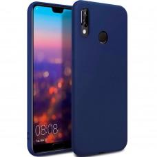 Силиконовый чехол iNavi Color Huawei P20 Lite (тёмно-синий)