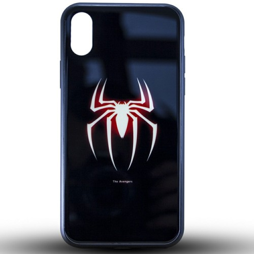 Накладка Luminous Glass Case Xiaomi Redmi Note 7 (Spiderman)