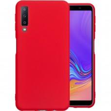 Силикон iNavi Color Samsung Galaxy A7 (2018) A750 (Красный)