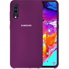 Силикон Original Case HQ Samsung Galaxy A70 (2019) (Сиреневый)
