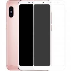 5D Стекло Matte HD Xiaomi Redmi 5 Plus / Note 5 Pro White
