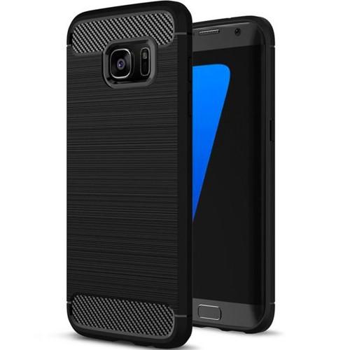 Силиконовый чехол Polished Carbon Samsung Galaxy S7 Edge (Чёрный)