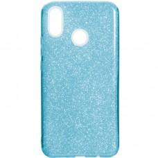 Силикон Glitter Huawei P Smart Plus / Nova 3i (Голубой)