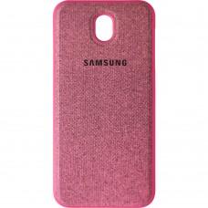 Силикон Textile Samsung Galaxy J7 (2017) J730 (Розовый)