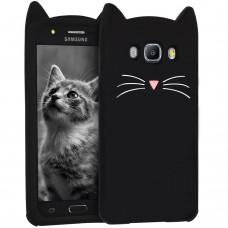 Силикон Kitty Case Samsung Galaxy J7 (2016) J710 (чёрный)