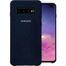 Силикон Original Case Samsung Galaxy S10 Plus (Тёмно-синий)