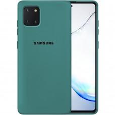 Силикон Original Case Samsung Galaxy Note 10 Lite (Тёмно-зелёный)