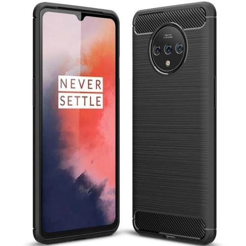 Силикон Polished Carbon OnePlus 7T (чёрный)