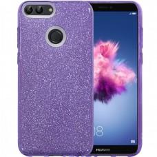 Силикон Glitter Huawei P Smart (фиолетовый)
