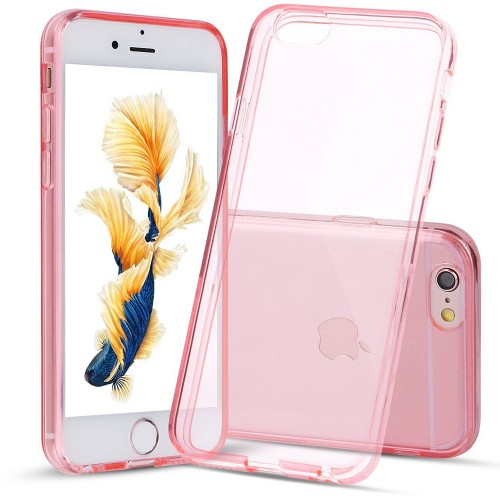 Силикон QU Case Apple iPhone 6 / 6s (Розовый)