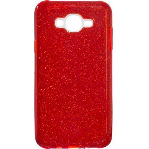 Силиконовый чехол Glitter Samsung Galaxy J5 (2015) J500 (красный)