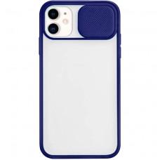 Накладка Totu Curtain Apple IPhone 11 (Тёмно-синий)