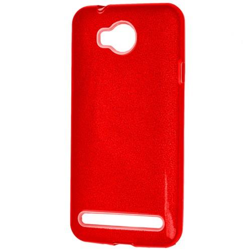 Силиконовый чехол Glitter Huawei Y3-2 (Красный)