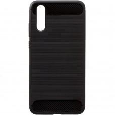Силикон Polished Carbon Huawei P20 (черный)
