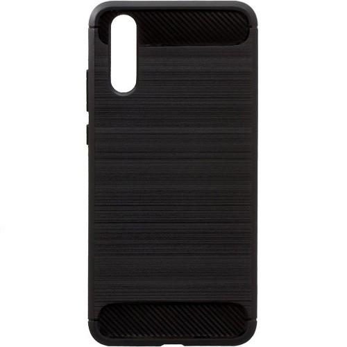 Силиконовый чехол Polished Carbon Huawei P20 (черный)