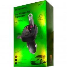 FM - модулятор Borofone DE35 Soaring QC3.0 Bluetooth V5.0 (Чёрный)