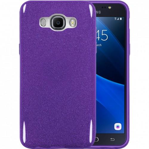 Силиконовый чехол Glitter Samsung Galaxy J7 (2016) J710 (Фиолетовый)