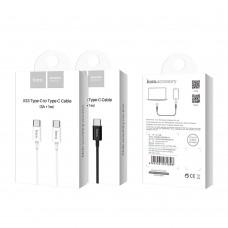USB кабель Hoco X23 Skilled (Type-C to Type-C) (Чёрный)