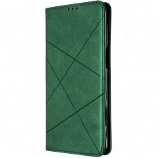 Чехол-книжка Leather Book Huawei P Smart (2021) (Тёмно-зелёный)
