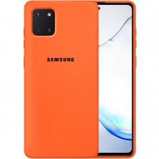 Силикон Original Case Samsung Galaxy Note 10 Lite (Оранжевый)