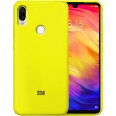 Силикон Original Case Xiaomi Redmi Note 7 (Жёлтый)