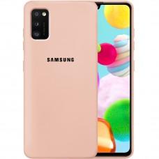 Силикон Original Case Samsung Galaxy A41 (2020) (Пудровый)