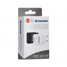 СЗУ-адаптер Lenovo YJ-06 2A + MicroUSB-кабель (Чёрный)