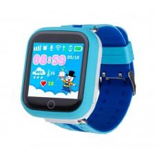 Детские смарт-часы Smart Baby Watch GPS+WiFi Q100 (Blue)