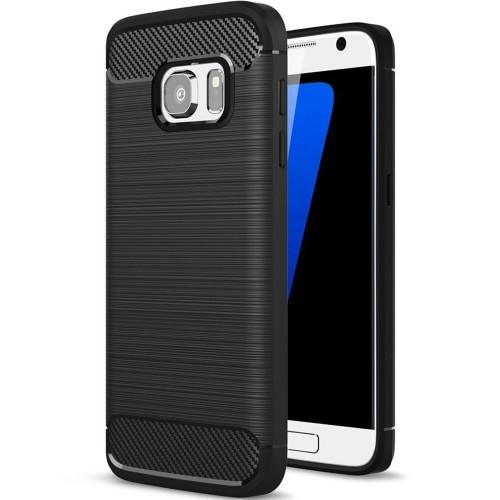 Силикон Polished Carbon Samsung Galaxy S7 (Чёрный)
