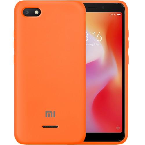 Силикон Original Case Xiaomi Redmi 6A (Оранжевый)