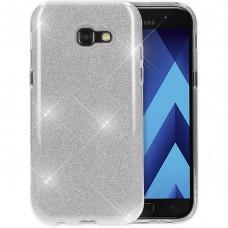 Силикон Glitter Samsung Galaxy A3 (2017) A320 (Серебряный)