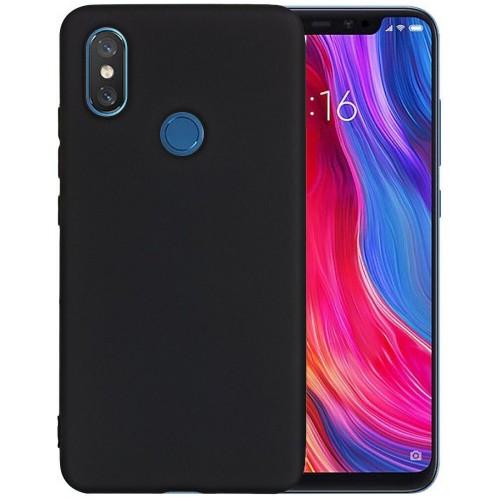 Силикон iNavi Color Xiaomi Mi8 (Черный)