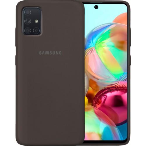 Силикон Original Case Samsung Galaxy A71 (2020) (Тёмно-коричневый)