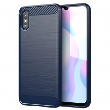 Силикон Polished Carbon Xiaomi Redmi 9A (Синий)