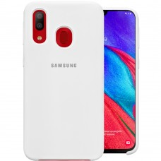 Силикон Original Case Samsung Galaxy A40 (2019) (Белый)