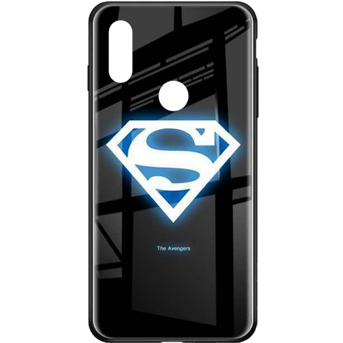 Накладка Luminous Glass Case Xiaomi Redmi Note 7 (Superman)