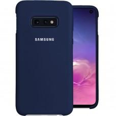 Силикон Original Case Samsung Galaxy S10e (Тёмно-синий)