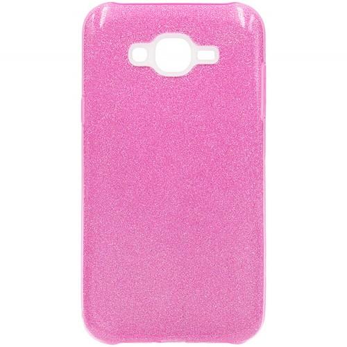 Силиконовый чехол Glitter Samsung Galaxy J5 (2015) J500 (розовый)
